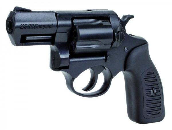 ME 38 Compact Brüniert Schreckschussrevolver Schwarze Kunststoffgriffschalen