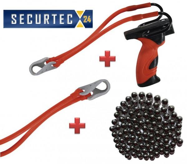 Barnett Cobra Set Rot mit Ersatzband und Stahlkugeln