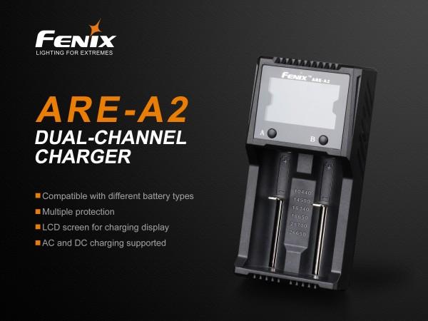 Fenix Ladegerät ARE-A2 18650 für 2 Akkus