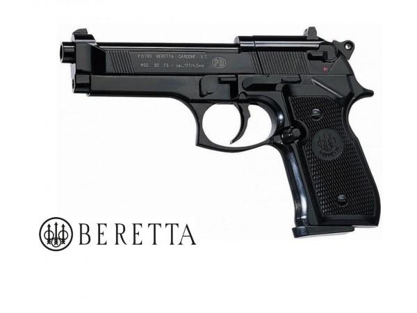 Beretta M 92 FS cal. 4,5 mm CO2 Pistole Brüniert, Polished Chrome, Vernickelt, Vernickelt/Holz