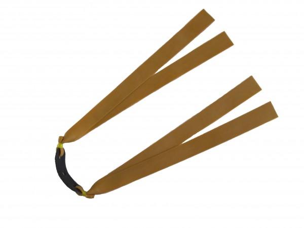 Handgefertigter Zweifach-Flachbandgummi Thera-Band Gold