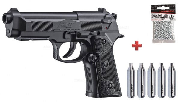 Beretta Elite II - Set inkl. Kugeln - Schutzbrille und CO2 Kapseln
