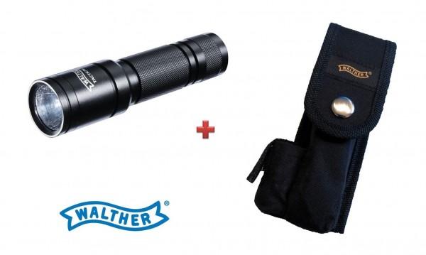 Walther Tactical 250 Taschenlampe + Walther Gürtelholster