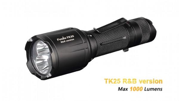 Fenix TK25RB rote und blaue LED Taschenlampe