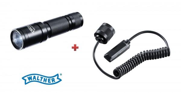 Walther Tactical 250 Taschenlampe + Kabelschalter lang
