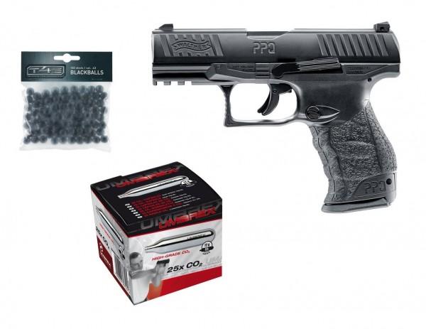 Walther PPQ M2 T4E RAM Kaliber.43 + 25 Stück Umarex CO2 Kapseln + 100 Rubberballs