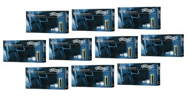 500 Schuss Walther/Umarex Knallpatronen 9mm P.A. -Sonderpreis-