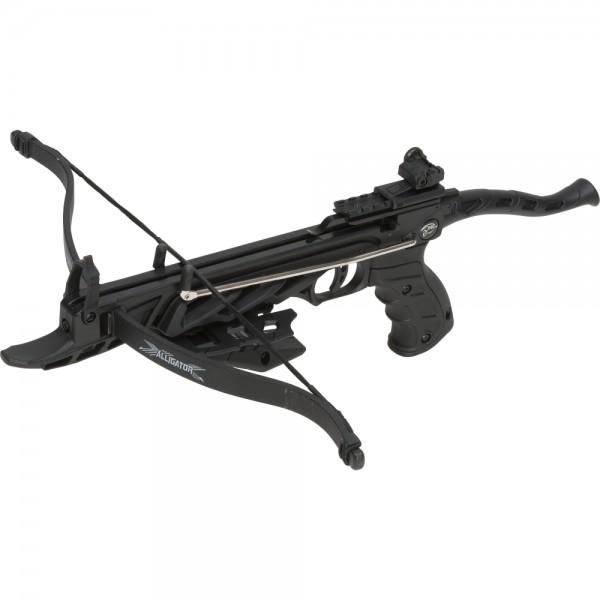 Pistolenarmbrust Alligator 80 lbs Schwarz