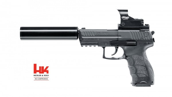 Heckler & Koch P30 Kit CO2 Pistole Kal. 4,5 mm Diabolo Schwarz