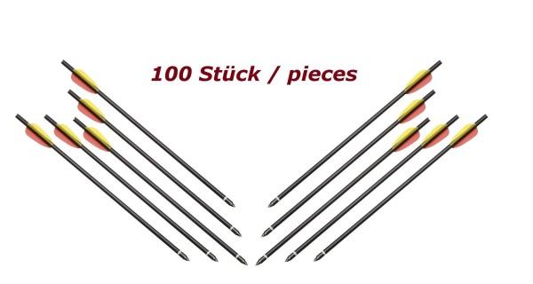 Armbrustpfeile 100 Stück 14 Zoll Schwarz