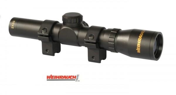 Weihrauch Zielfernrohr 2x20 für Luftpistolen Montage 11 mm Schiene