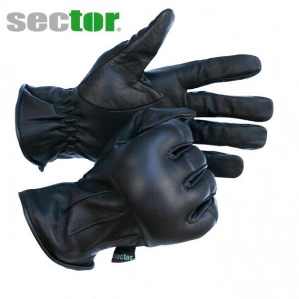 sector Taktischer Einsatzhandschuh mit Quarzsand und aus Leder