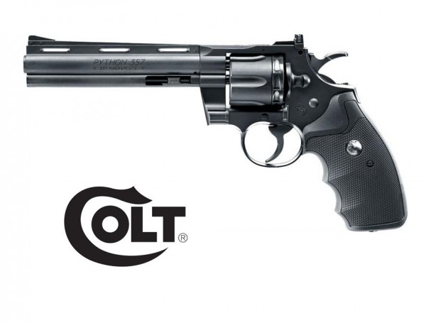 "Colt Python Schwarz 6"" CO-2 Revolver"