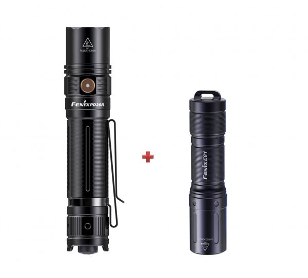 Unser Winterset: Fenix PD36R LED Taschenlampe mit gratis E01 V2.0 Schlüsselbundleuchte