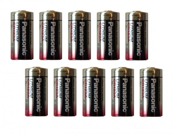 10 Stück Panasonic Batterien CR123A