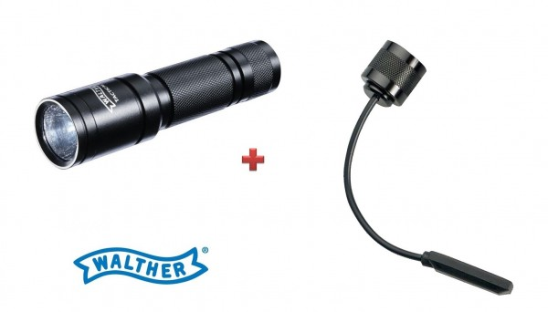 Walther Tactical 250 Taschenlampe + Kabelschalter kurz