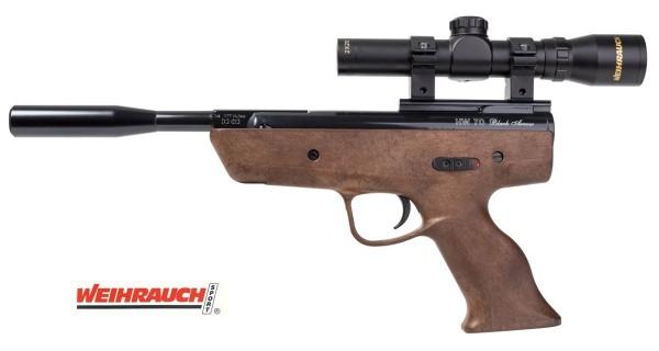 Weihrauch HW 70 Black Arrow Luftpistole mit Zielfernrohr