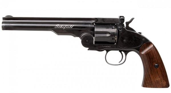 """Schofield 6"""" CO2 Revolver Aging Black 4,5 mm Diabolo"""